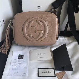 Beige Gucci Soho Disco Bag